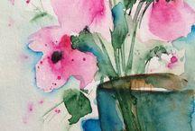 acquerello fiori