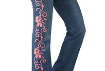 embroiered jeans
