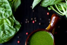 Herbs / Recipes starring herbs as themselves in dressings, pestos and other dishes.