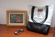 Shiminuta bags / Realizados en cuerina estampada y forrados con tela impermeable en su interior Buenos Aires- Argentina