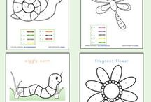 Relief teaching resources / Colour by number