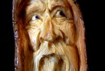 ukiran wajah dari kayu
