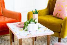 Colourful Sofas.