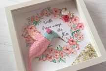 cuadro con colibrí