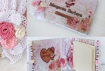 My work. Handmade custom made albums & wishbooks for Girls.