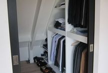 sloping roof closet