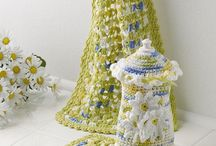 crochet kitchen sets