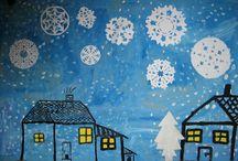 Výtvarné nápady - zima