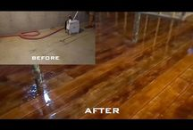 Concrete floor to faux wood floors