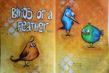 Karten mit Vögeln