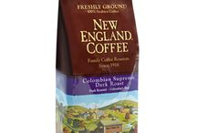 NECCo.- Dark / Dark Roast  Enjoy New England Coffee's new line of coffees, Dark Roast Select, offering you a new way to drink it darker! Dark Roast Selects Coffees are made with 100% high-quality Arabica coffee beans that are roasted at a higher temperature and longer time, producing a darker color. Brewed, dark roast coffees are full-bodied with low-acidity and have a dominating bittersweet, intense flavor. Dark Roast Selects are available in 10 oz. freshly ground packages.
