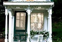 Charming Abodes and Interesting Architecture /  fun cottages, castles, shops, landmarks, and hovels of all shapes and sizes.