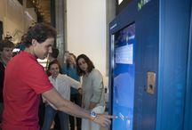 Smart Vending Movistar / Smart Vending fabricada por InnovaPos para Movistar para las acciones de activación de marca en Barcelona y Madrid con Rafa Nadal.