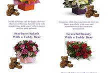 Flowers with Teddy Bear