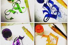 Kaligrafi ve yazı sanatı