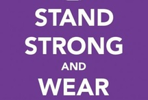 Wear Purple for Peace! / Some of the best purple outfits and styles for you to rock when supporting your favorite purple nonprofit foundation! / by Barielle