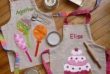 Aprons kids Sewing DIY