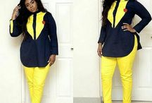 Ankara Blouse and trousers styles for women