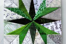 Kağıtla dikilen patchwork