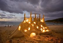Sand, beaches, castles & sculptures / by Stephanie Falcon