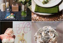 Green Weddings / Green Wedding Decor ~ Green Bridesmaids Dresses ~ Green Groomsmen Attire ~ Green Tablescapes ~ Green Bridal Bouquets ~ Green Boutonnieres