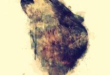 Wölfe Kunst