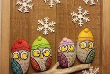 gufetti e idee regalo / sassi decorati