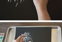 Salt- painting with