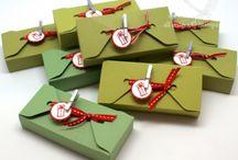 gift box punch board ideas