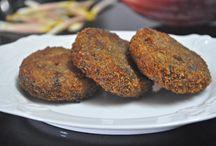 Starters- Vegetarian / Vegetarian Starters, Cheese corn nuggets, cutlets, Banana flower cutlets, vazhakkoombu, kudappan