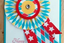 Embellishments- rosettes / scrapbook and craft inspiration for using rosettes