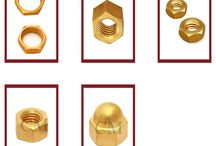 Brass Nuts / A nut is a type of fastener which has a threaded hole of various shapes. A nut is used in a bolt mechanism as a tool to tighten the entire assembly and to hold it in place. The two partners are kept together by a combination of their threads' friction, a slight stretch of the bolt, and compression of the parts.