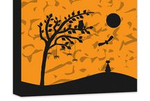 Halloween Wall art / Creative Halloween designs that can be mixed & matched or customized from top to bottom.  Browse and shop our Select WallLillies Halloween designs directly from Pinterest with our buyable pins or visit our website to create your customized Halloween design from top to bottom!