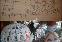 palline crochet di natale