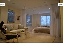 Bed in livingroom