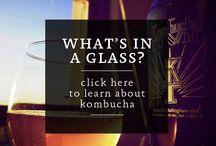 Kombucha Town / Live healthy, live happy. Brewed in Bellingham, Washington.