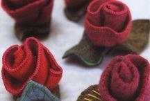 Small felt, lace, sachets treasures