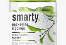 Nutrition packaging mockups