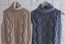 camisola em tricot com folhas