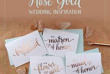 Rose Gold Wedding Inspiration / Inspired by our authentic foil press cards, this elegant rose gold hue are what wedding dreams are made of!