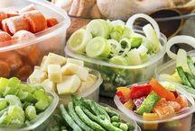 Jídlo, saláty, ukládání