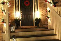 Julepyntet hus
