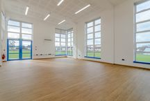 St James the Great School Hall in Surrey / Modular timber framed building with alternative brick cladding.
