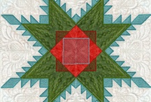 Feathered Star, EmbroidaBlock of the Month 2013