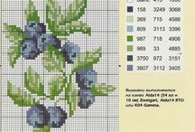 cross stitch blueberries