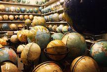 atlas, kaart en wereldbol / by Momo VDB