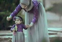 modest muslimah and child