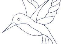 dibujos pájaros