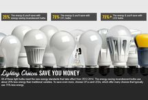 Easy Fix: Save BIG Money & Energy By Switching Your Light Bulbs / You will be amazed how much $$ you'll save by replacing all your incandescent or compact fluorescent lights (CFL's) with long lasting AFFORDABLE LED (light emitting diode) bulbs!  They'll save you 80% off the cost of your electricity! They save 50% of the cost of electricity used by CFL's. When you use less electricity, it cuts the amount of CO2 released into the atmosphere. So while you personally are SAVING MONEY, you are also helping to save Planet Earth! Yay! www.mainstreamgreen.org