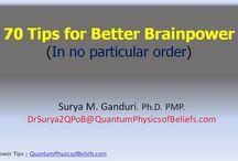 Brain Power / Tips for Better Brainpower